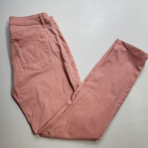 Jessica Simpson Salmon Colored Rolled Crop Jeans